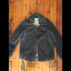 ASOS Teddy Fur Coat Grey size 4